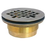 "2""BRASS FIBRGLASS SHOWER DRAIN"
