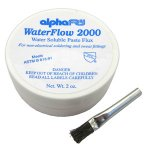 2 OZ WATER SOLUBLE FLUX &BRUSH