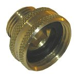 3/4 FEMALE GARDEN HOSE THREAD X 1/2 MALE PIPE TREAD BRASS ADAPTE