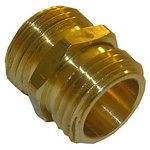 3/4 MALE GARDEN HOSE THREAD X 3/4 MALE GARDEN HOSE THREAD BRASS