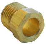 3/8 INVERTED FLARE BRASS NUT