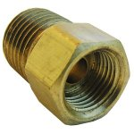 5/16 INVERTED FLARE X 1/4 MALE PIPE THREAD BRASS ADAPTER