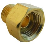 3/8 INVERTED FLARE X 1/4 MALE PIPE THREAD BRASS ADAPTER