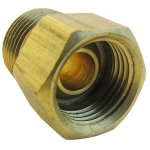 3/8 INVERTED FLARE X 3/8 MALE PIPE THREAD BRASS ADAPTER