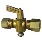 1/2 FLARE X 3/8 MALE PIPE THREAD BRASS SHUTOFF COCK LEVER HANDLE