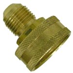 1/2 FLARE X 3/4 FEMALE HOSE THREAD BRASS ADAPTER