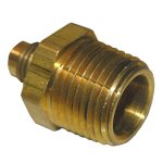 1/4 FLARE X 3/8 MALE PIPE THREAD BRASS ADAPTER