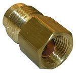 1/2 FEMALE FLARE X 5/8 MALE FLARE BRASS ADAPTER