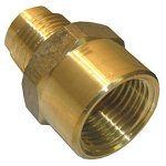 5/8 FEMALE FLARE X 1/2 MALE FLARE BRASS ADAPTER
