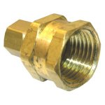 1/4 COMPRESSION X 1/2 FEMALE PIPE THREAD BRASS ADAPTER