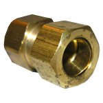 3/4 COMPRESSION X 1/2 FEMALE PIPE THREAD BRASS ADAPTER