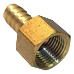 1/2 FEMALE PIPE THREAD X 1/2 BRASS HOSE BARB ADAPTER