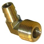 3/8 MALE PIPE THREAD X 1/4 BRASS HOSE BARB ELL