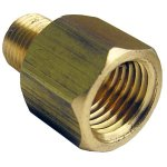 1/4 FEMALE PIPE THREAD X 1/8 MALE PIPE THREAD BRASS COUPLING