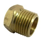 CD 1/2 BRASS HEX PLUG