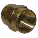 CD 3/8 BRASS COUPLING