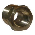 CD 1/4X1/8 BRASS HEX BUSHING