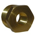 CD 1/2X1/4 BRASS HEX BUSHING