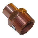 1 X 1/2 C X M COPPER MALE PIPE THREAD ADAPTER