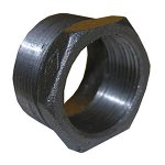 2 1/2 X 1 1/4 BLACK HEX BUSH