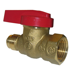1/2X1/2 RED CAP GAS VALVE