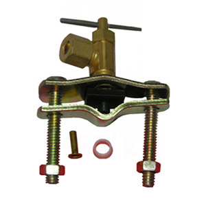 5/16 COMPRESSION OUTLET BRASS SADDLE NEEDLE VALVE