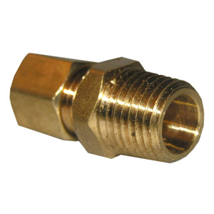 1/8 COMPRESSION X 1/8 MALE PIPE THREAD BRASS ADAPTER