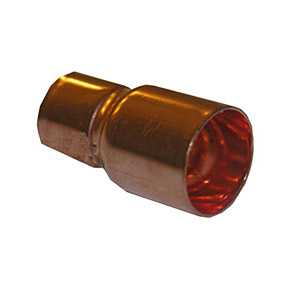 3/8 X 1/4 FTG X C COPPER FITTING REDUCING COUPLING