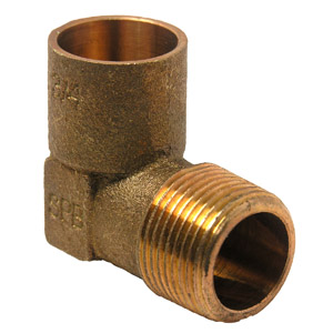 3/4 C X M COPPER CAST MALE IRON PIPE 90 ELBOW