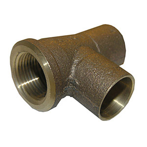 3/4 X 1/2 X 3/4 C X F X C COPPER CAST SERVICE FEMALE IRON PIPE 90 ELBOW