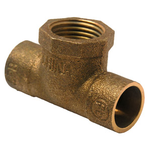 1/2 C X C X F COPPER CAST FEMALE IRON PIPE TEE