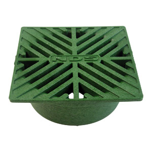 "5"" SQ. GREEN GRATE"