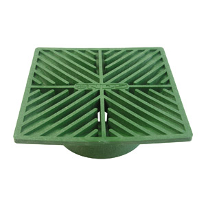 "6"" SQ. GREEN GRATE"