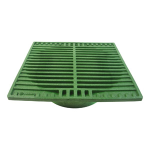 "9"" SQ. GREEN GRATE"