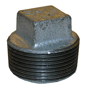 4 GALV SQUARE HEAD PLUG
