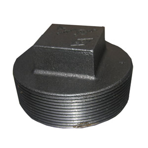 4 BLACK SQUARE HEAD PLUG
