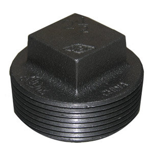 2-1/2 BLACK SQUARE HEAD PLUG