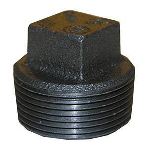 3/4 BLACK SQUARE HEAD PLUG