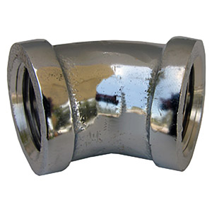 3/8 CHROME PLATED BRASS 45 ELL