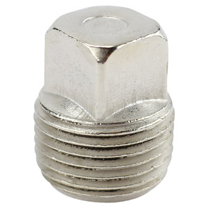 3/8 CHROME PLATED BRASS SQUARE HEAD PLUG