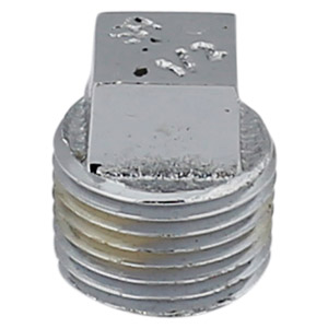 1/2 CHROME PLATED BRASS SQUARE HEAD PLUG