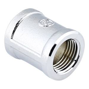 1/2 CHROME PLATED BRASS COUPLING