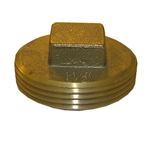 4 INCH BRASS CLEANOUT PLUG