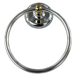 CP/PB ROUND TOWEL RING
