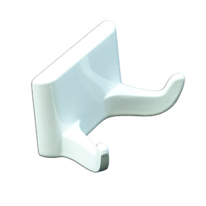 WHITE DOUBLE ROBE HOOK