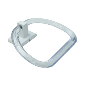 WHITE LUCITE TOWEL RING