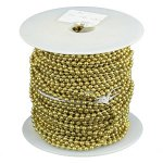 #3 BRASS BEADED CHAIN 100 FT