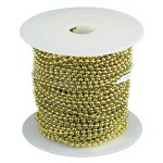 #6 BRASS BEADED CHAIN (100 FT)