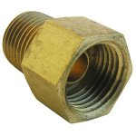 5/16 INVERTED FLARE X 1/8 MALE PIPE THREAD BRASS ADAPTER
