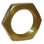 3/8 FEMALE PIPE THREAD BRASS LOCKNUT